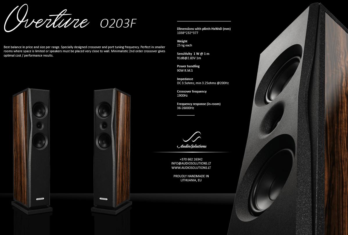 Loa Audio Solutions Overture O203F hay